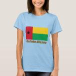 Drapeau Guinée-Bissau avec le nom en français T-Shirt