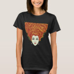 La Petrolina Longega Long Haired Red Head Lady Tee
