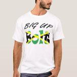 Big Up Bolt Jamaican Flag T-shirt