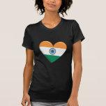 India Heart Flag T-Shirt