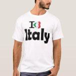 I Love Italy Flag T-shirt T-Shirt