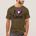 I Love Laos Flag T-Shirt