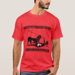Hoplit and Lion (black on red) T-Shirt