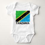 Tanzania Vintage Flag Baby Bodysuit