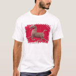 Galloping horse with one Hoof Resting on a T-Shirt