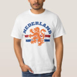 Dutch Lion with Netherlands Flag T-Shirt