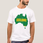 Geelong Green and Gold Map T-Shirt