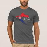 Croatia Flag Map Shirt