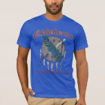 Vintage Oklahoma Flag Work Conquers All T-Shirt