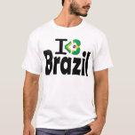 I Love Brazil Flag T-shirt T-Shirt