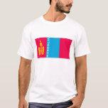 mongolia country flag symbol name text T-Shirt