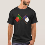 Crossed Flags of Portugal and the Azores T-Shirt