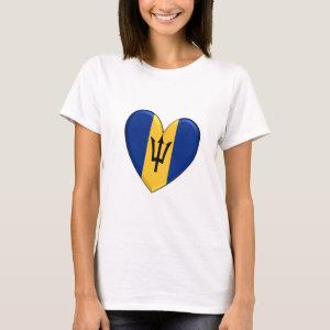 Barbados Heart Flag T-Shirt