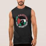 Free Palestine End Apartheid Flag Fist Black Tank Top