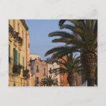 Italy, Sardinia, Cagliari. Buildings and palms Postcard