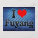 I Love Fuyang, China Postcard