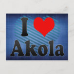 I Love Akola, India Postcard