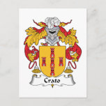 Crato Family Crest Postcard