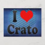 I Love Crato, Brazil. Eu Amo O Crato, Brazil Postcard