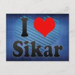 I Love Sikar, India. Mera Pyar Sikar, India Postcard