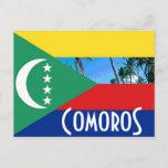 Comoros The Comoro Islands flag Postcard