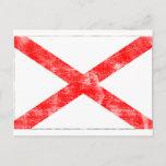 Alabama Flag (Distressed) Postcard