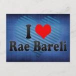 I Love Rae Bareli, India Postcard