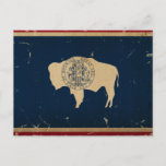 Wyoming State Flag VINTAGE Postcard