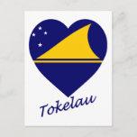 Tokelau Flag Heart Postcard