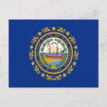 Flag of New Hampshire Postcard