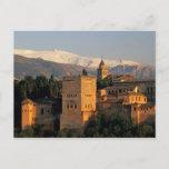 Alhambra; Granada; Andaslusia, Spain, Sierra Postcard