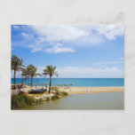 Summer Vacation Beach and Sea Scenery in Spain Postcard