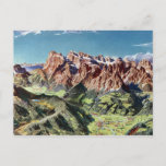 Vintage Dolomites Italy Relief Map Postcard