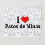 I Love Patos de Minas, Brazil Postcard