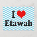 I Love Etawah, India Postcard