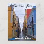 Old San Juan Puerto Rico Postcard Colorful Houses