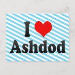 I Love Ashdod, Israel Postcard