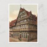 Old house, Hildesheim, Hanover, Germany magnificen Postcard