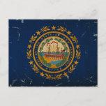 New Hampshire State Flag VINTAGE Postcard