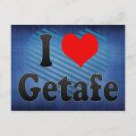 I Love Getafe, Spain Postcard