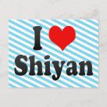 I Love Shiyan, China. Wo Ai Shiyan, China Postcard