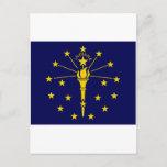 United States Indiana Flag Postcard