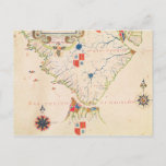 Map of South America and the Magellan Straits Postcard
