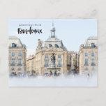 Place de la Bourse Bordeaux France Travel Postcard