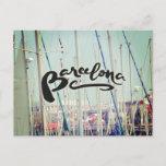 Barcelona Spain Port Europe Wanderlust Postcard