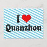 I Love Quanzhou, China. Wo Ai Quanzhou, China Postcard