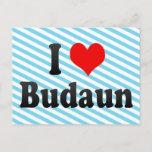 I Love Budaun, India Postcard