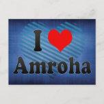 I Love Amroha, India Postcard