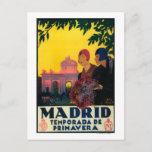 Madrid in Springtime Travel Promotional Poster Postcard
