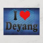 I Love Deyang, China Postcard
